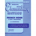 Rubank Elementary method - French horn Eb alto or mellophone